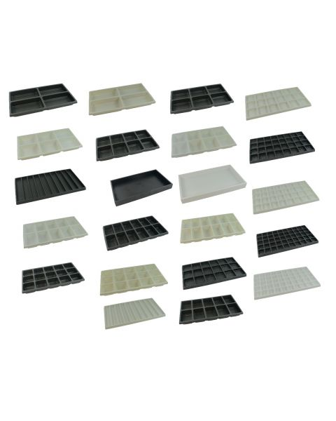 Plastic Textured Tray With Choice Of Plastic Compartment Insert (BD1-2P/insert)
