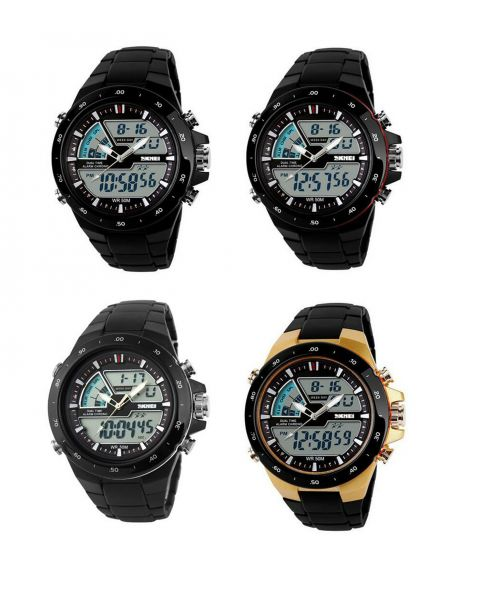 SKMEI Military S-SHOCK LED Digital Waterproof 5ATM Alarm Sports Wrist Watch