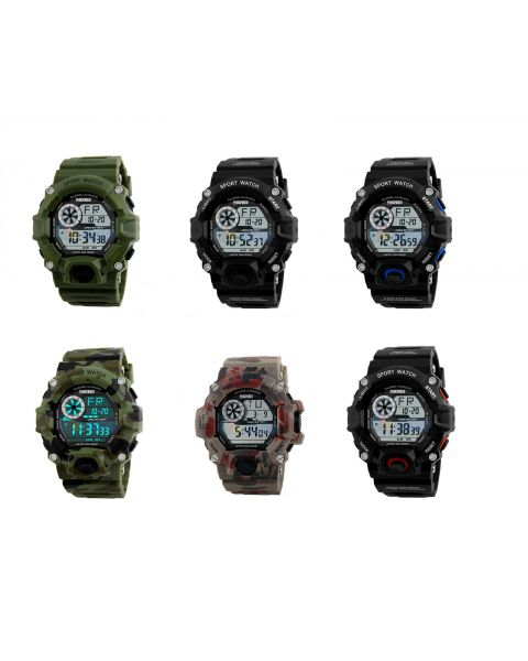 Digital Sports Military Waterproof Timer LED Multifunction Alarm Wrist Watch