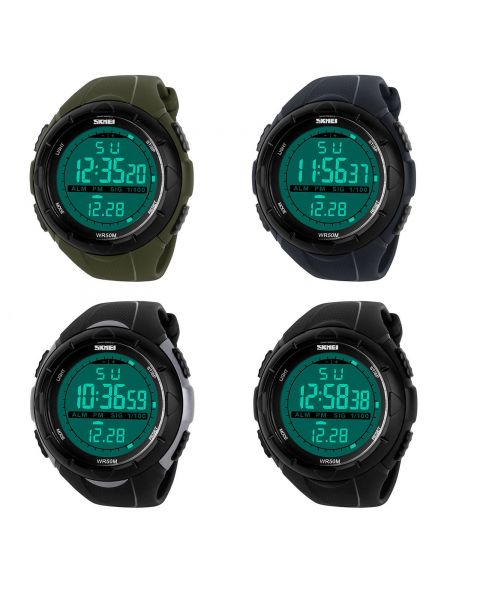 SKMEI Outdoor Digital Sports Watch Men Multifunction LED Watch 50 M Waterproof