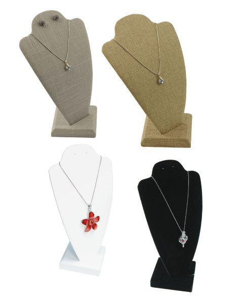 9.5 Inch Necklace Chain Pendant 2 Piece Display Bust with Earring Holes - Colour Choice - From £3.95 (BD102)