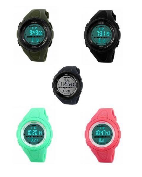 SKMEI Digital Sports Casual Small Wrist Watch Back Light Alarm Waterproof 5ATM