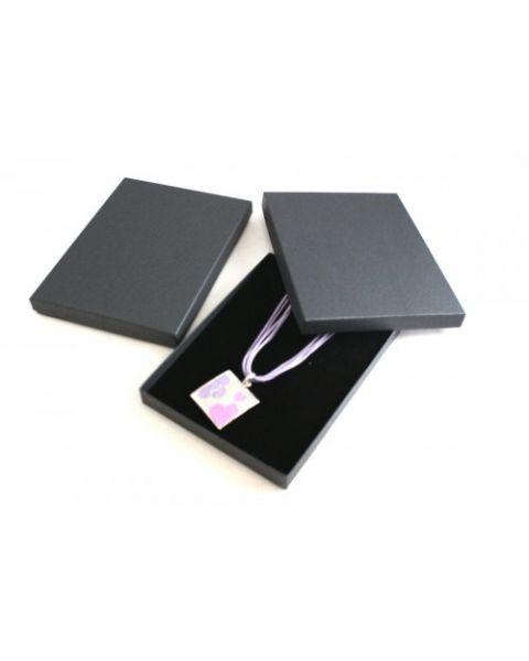 Postage Saver Black Vibrant Series Slim Necklace/Sets Box - from 99p each - (ET-10ST)