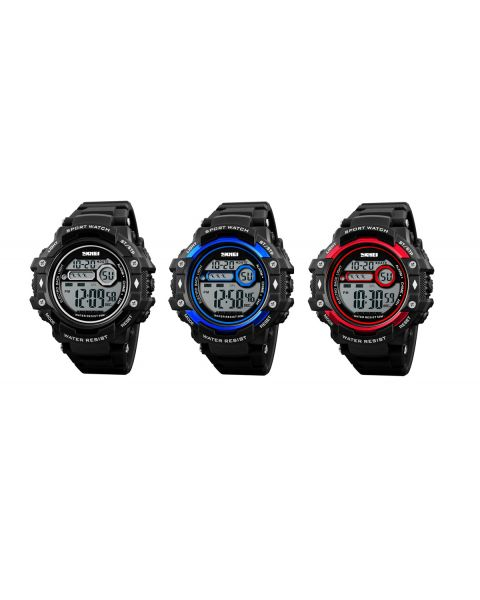 SKMEI Mens Sport Outdoor Digital 50m Waterproof EL Light Alarm 12/24Hr Watch