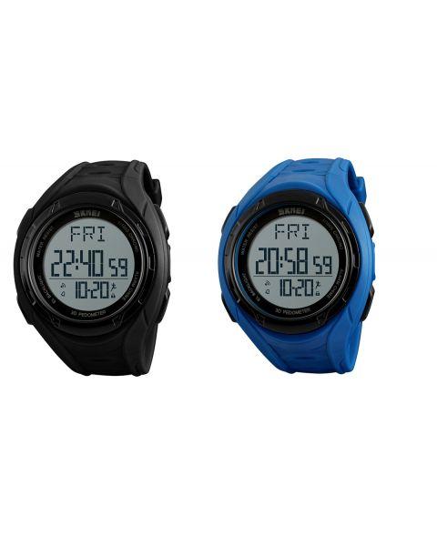 SKMEI Digital Mens Outdoor Pedometer Calorie Stopwatch Alarm Waterproof Watch