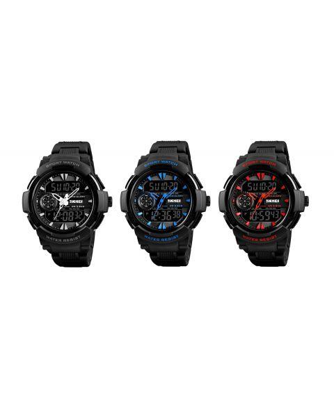SKMEI Mens Sport Digital Waterproof Dual Display Alarm Chrono Backlight Watch