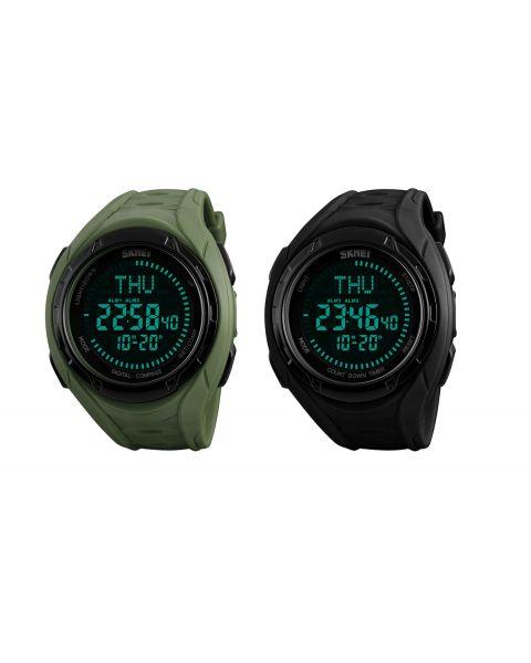 SKMEI Mens Digital Pedometer Calories 50m Waterproof Bluetooth SMART Wrist Watch