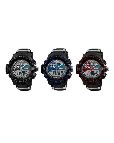 SKMEI Mens Analogue Digital Chrono 50m Waterproof EL Light Alarm Wrist Watch