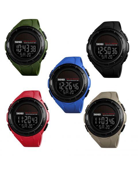 SKMEI Sport Watch Men Digital Wristwatch Creative Solar Power Waterproof