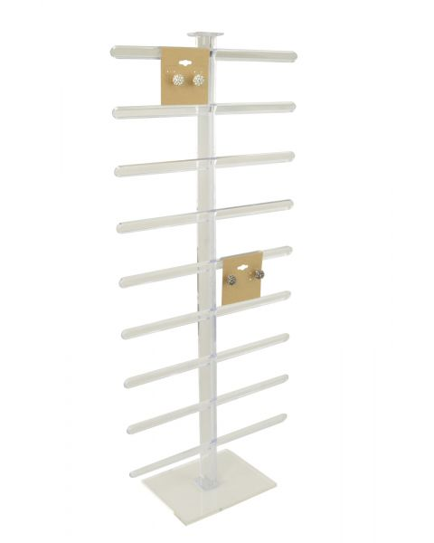 Clear Earring Hanging Card Display Stand - BD1411CL (49cm high)