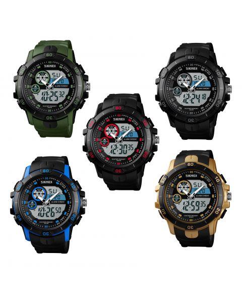 SKMEI Men's LED Digital Military Date Alarm Sports Army Waterproof Wrist Watch