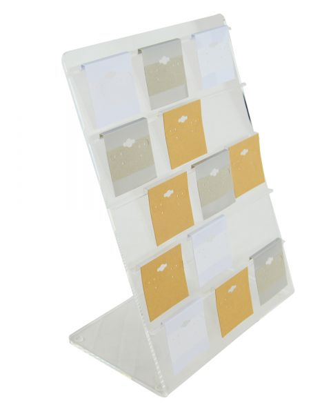 Clear Acrylic Earring Hanging Card 5 Rail Display Rack - Can Hold up to 2' Cards