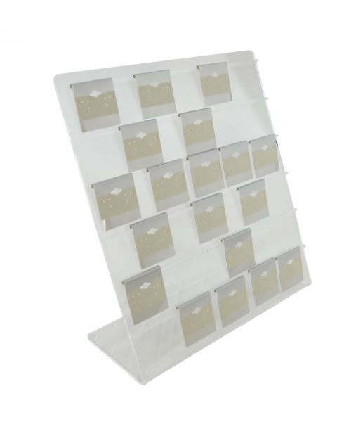 Clear Acrylic Earring Hanging Card 6 Rail Display Rack - Can Hold up to 2' Cards