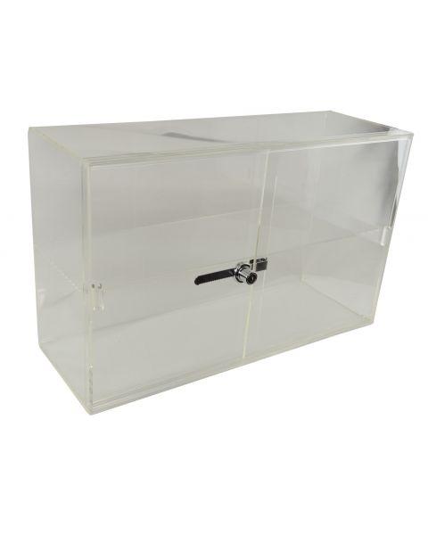 Acrylic Showcase Lockable Cabinet with Sliding Doors - (BD1467)