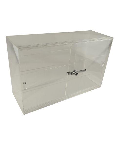 Acrylic Showcase Lockable Cabinet with Sliding Doors - (BD1468)