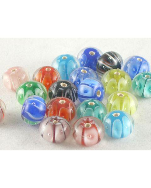 15 Pcs Lampwork Glass Beads Round 12mm (5-22)