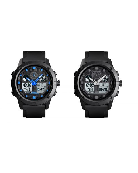 SKMEI Outdoor Sports Dual Time EL Light Water Resistant Timer Alarm Wrist Watch