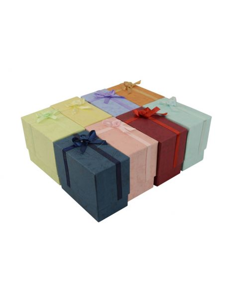 16 x Assorted Colours Upright Bangle Boxes with Bows from 79p each