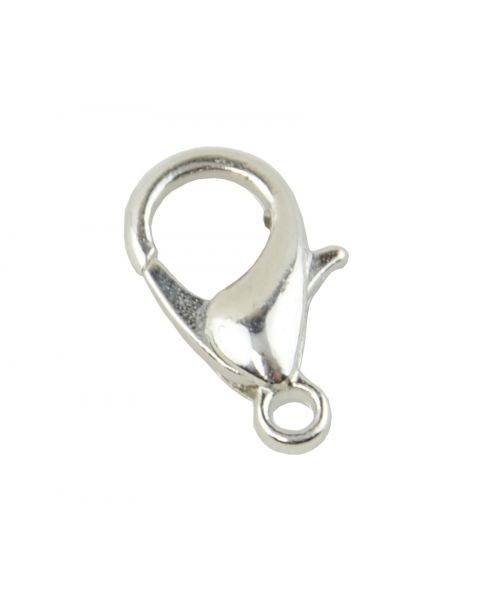 Pack of 25 Silver Lobster Clasps 12mm (2-34)