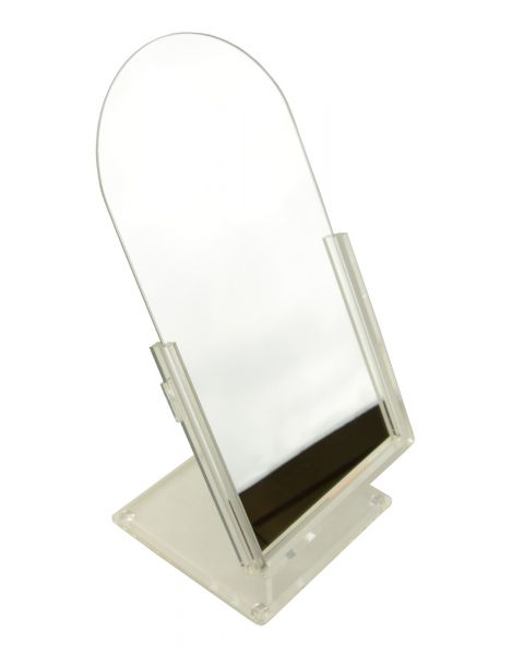 Clear Frame Countertop Adjustable Tilting Mirror - BD1801