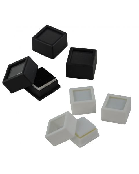 50 Glass Top Gem Jars with Double-Sided Foam Insert (BD1809)
