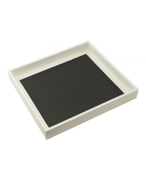 White Half Size Wooden Utility Tray (1 inch deep) - BD2-1W