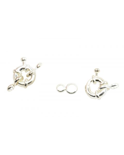 1 x Spring Ring Clasps with Cord Ends (2-73)