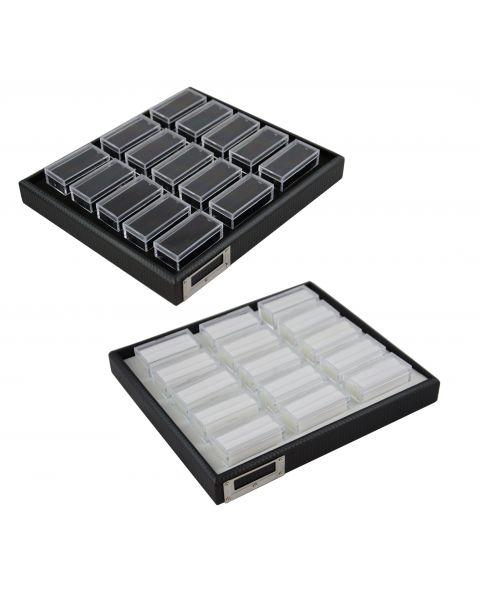 Stackable Gem Jar Trays with 15 Rectangular Jars - BD2055