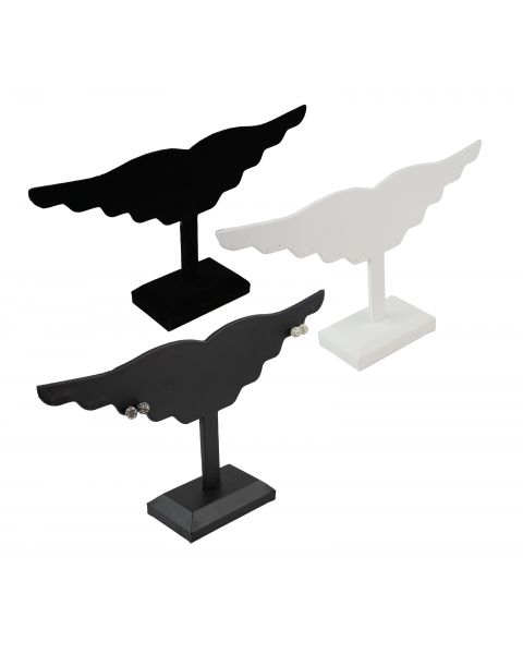 Leatherette Earring Display Wing to hold 10 Pairs - BD291L