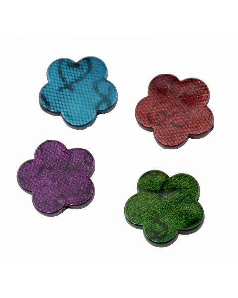 20pcs  Painted Acrylic Flower Beads 30mm  Bolour Choice (37887-113)