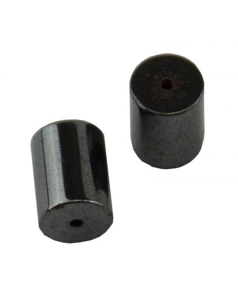 Pack of 10 Hematite 14x10mm Round Tube Beads (37887-130) from 50p