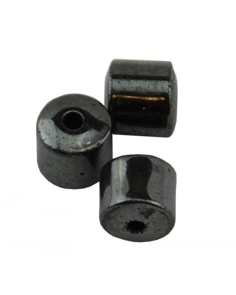 Pack of 30 Hematite 4x4mm Small Drum Beads (37887-134) from 50p