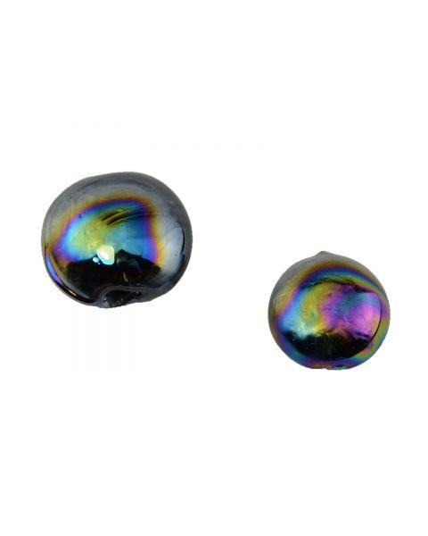 10 pcs Black Glass Lustre Bead