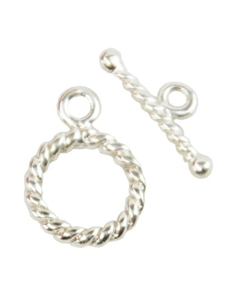 Pack Of 4 Silver coloured Donut Toggles (2-39)