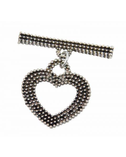 4 x Dark Colour Heart Toggles (37887-230)