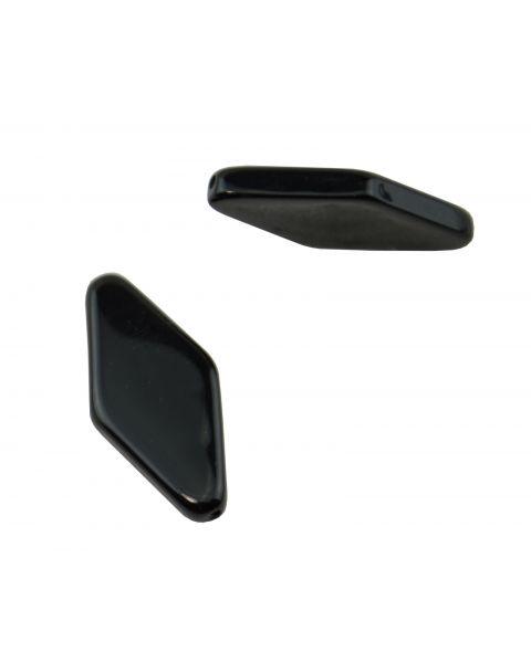 10pcs Flat Black Diamond Shape Resin Bead (37887-250)