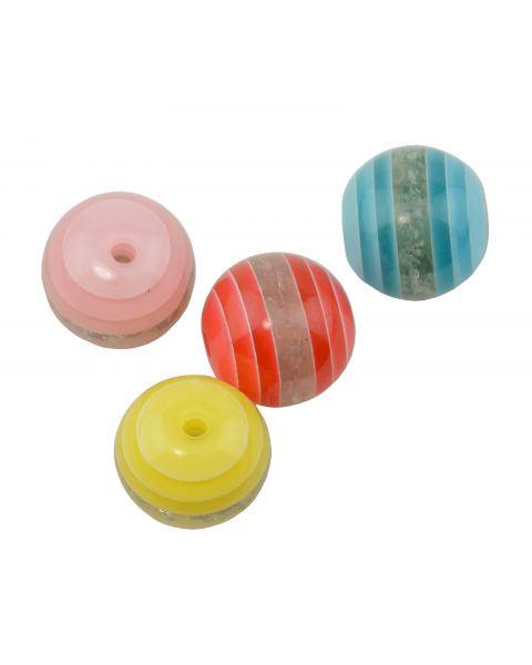 8pcs Resin Round Mixed Colour Bead (37887-259)