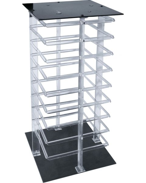 4-Sided Clear Rotating Hanging Card Display Stand - BD3104 (49.5 cm high)