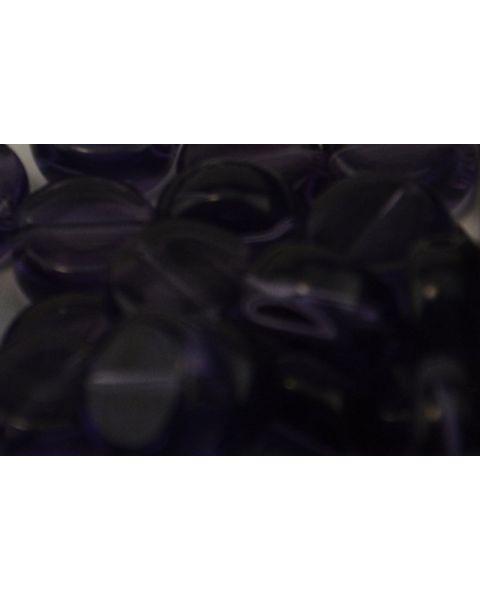 45 pcs Flat Round Crystal Beads 8mm Dark Purple - 45564-271