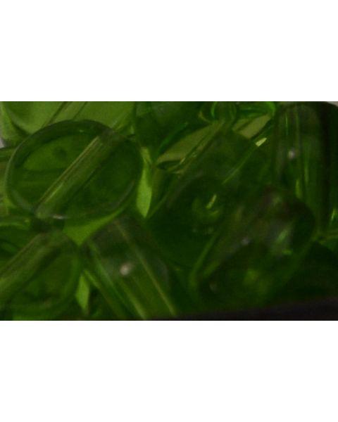 45 pcs Flat Round Crystal Beads 8mm Green - 45564-271