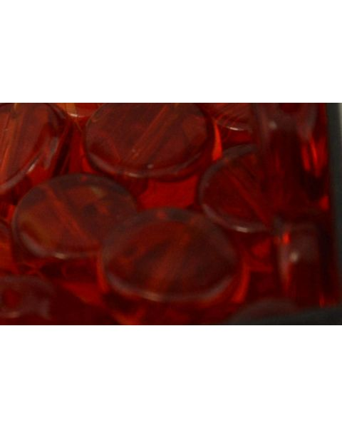 45 pcs Flat Round Crystal Beads 8mm Red - 45564-271