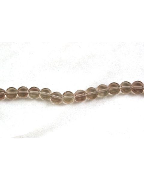 45 pcs Flat Round Crystal Beads 8mm Smokey Clear - 45564-271