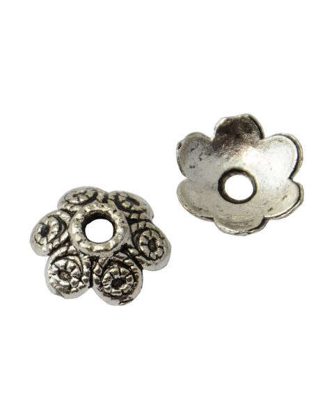 Pack of 20 Antiqued Silver Bead Caps 11mm (45564-180)