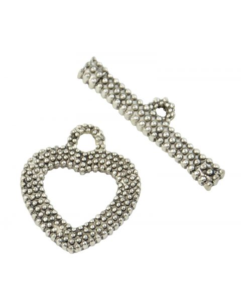 4pcs Alloy Heart Toggle (45564-200)