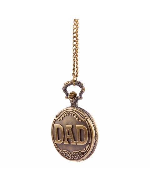 Bronze / Brass Coloured Full Hunter Dad's Pocket Watch with Chain