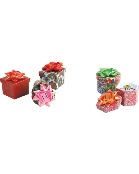 48 x Hat Ring Boxes - Assorted Colours & Shapes (BD1358)