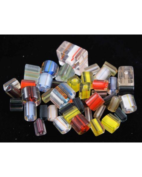 50g Clear & Coloured Mixed Shape Glass Beads (59004-001)