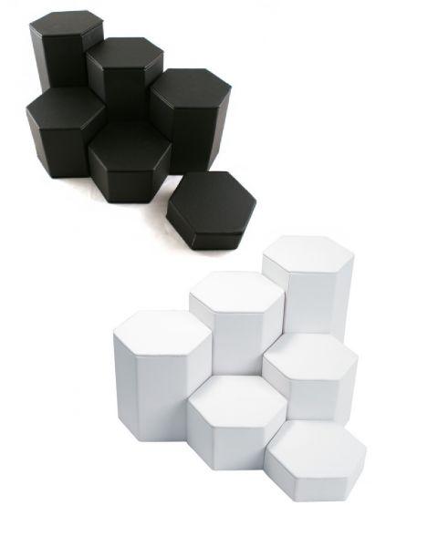Six Piece Hexagon Riser Set (BD513L) - Colour Choice