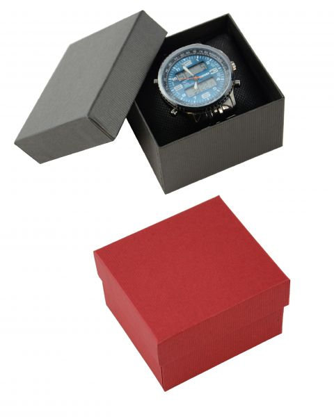2 Piece Pinstripe Card Watch / Bangle Pillow Box