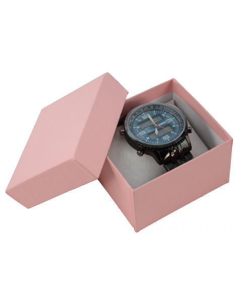 Two Piece Card Matte Pink Watch / Bangle Pillow Box